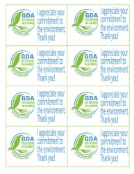 Print these out to leave behind whenever you dine at a GDA restaurant.