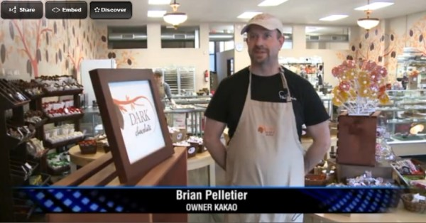 Brian Pelletier, owner of Kakao Chocolates, on FOX2 news